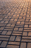 Floor with paving stones Stock Image