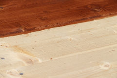 Floor from pine boards processed by paint Stock Photography