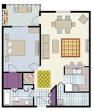 Floor plan Stock Photography