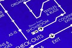 Floor Plan. Store Floor Plan stock image