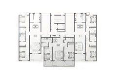 Floor plan. Isolated on white background Stock Photos