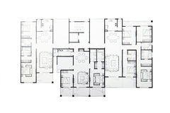 Floor plan. Isolated on white background. (Includes three sets of house style royalty free stock image