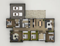 Floor Plan. Of Residential House8 Stock Photos