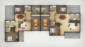 Floor Plan. Of Residential House3 Royalty Free Stock Photography