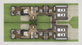 Floor Plan. Of Residential House2 Stock Photos