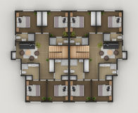 Floor Plan. Of the residential house Royalty Free Stock Image