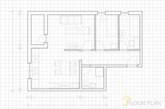Free Floor Plan Royalty Free Stock Photography - 36204227