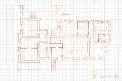 Floor plan. Image Of Vector Illustration Of Architectural Floor Plan Stock Photography