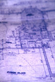 Floor Plan. Close up blueprints for a house Stock Images