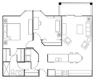 Floor Plan Apartment Royalty Free Stock Photo