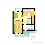 Floor plan royalty free illustration