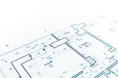 Floor plan blueprint, blueprints background, architecture drawin Stock Photography