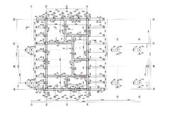 Floor plan blueprint Royalty Free Stock Image
