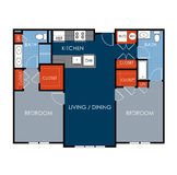 Floor Plan Design. For apartment/house royalty free illustration