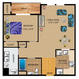 Floor Plan Design 3D Royalty Free Stock Photos