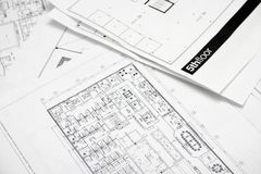 Floor plan drawing Stock Image
