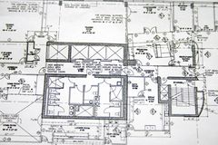 Floor plan drawing Stock Photo