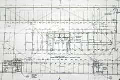 Floor plan drawing detail Stock Photo