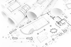 Floor plan drawings Royalty Free Stock Photo