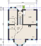 Floor plan of a house. Architectural background. royalty free illustration