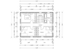 Floor plan of house as architectural drawing Stock Photos
