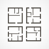 Floor plan icons Royalty Free Stock Image