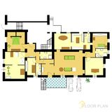 Floor plan. Image Of Vector Illustration Of Architectural Floor Plan royalty free illustration