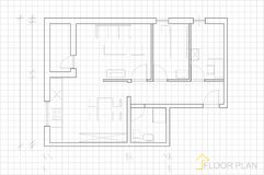 Floor plan. Image Of Vector Illustration Of Architectural Floor Plan vector illustration