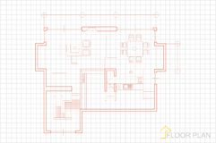 Floor plan stock illustration