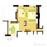 Floor plan. Image Of Vector Illustration Of Architectural Floor Plan stock illustration