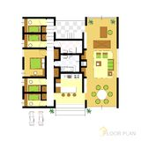Floor plan. Image Of Vector Illustration Of Architectural Floor Plan Royalty Free Stock Image