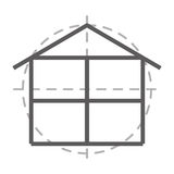 floor plan  isolated icon design Royalty Free Stock Image