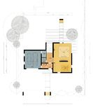 Floor plan of the living house. Drawing: ground floor plan of the living house Royalty Free Stock Images