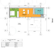 Floor plan of the living house. Drawing: ground floor plan of the living house Royalty Free Stock Image