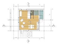 Floor plan of the living house. Drawing: ground floor plan of the living house Stock Photos