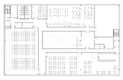 floor plan of the office. Floor Plan Of The Office Building Stock Photos O