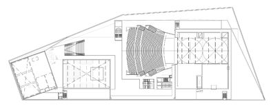 Floor plan of the opera. Drawing: floor plan of the opera, theatre Stock Photography