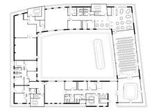 Floor planerar av byggnad Arkivbild