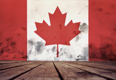 The texture of Canada flag. royalty free illustration