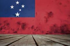 Texture of the Flag of Samoa. vector illustration