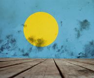 Texture of flag of Palau stock photo