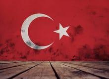 painted Turkey flag. royalty free illustration