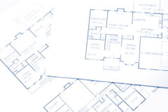 Floor Plans. Several floor plans for new home construction Stock Photography