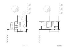 Floor plans of the living house. Drawing: floor plans of the living house Stock Photos