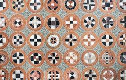 Geometric pattern of mosaic stones. Floor at the Prague Castle with a geometric pattern of mosaic stones stock photography