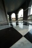 Floor with retro checkered Royalty Free Stock Photo