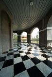 Floor with retro checkered pattern Stock Image