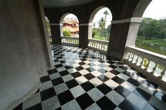 Floor with retro checkered pattern Royalty Free Stock Photos