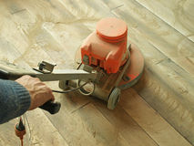 Floor sanding Royalty Free Stock Photo