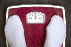 Floor scales. Weight within the limits of norm(rate Royalty Free Stock Photos